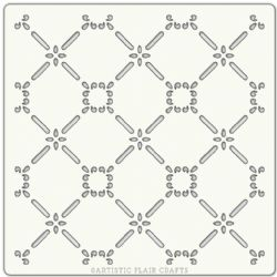 "Artistic Flair, Craft Stencil 152 Range - (6"" x 6"") - Climbing Lattice"